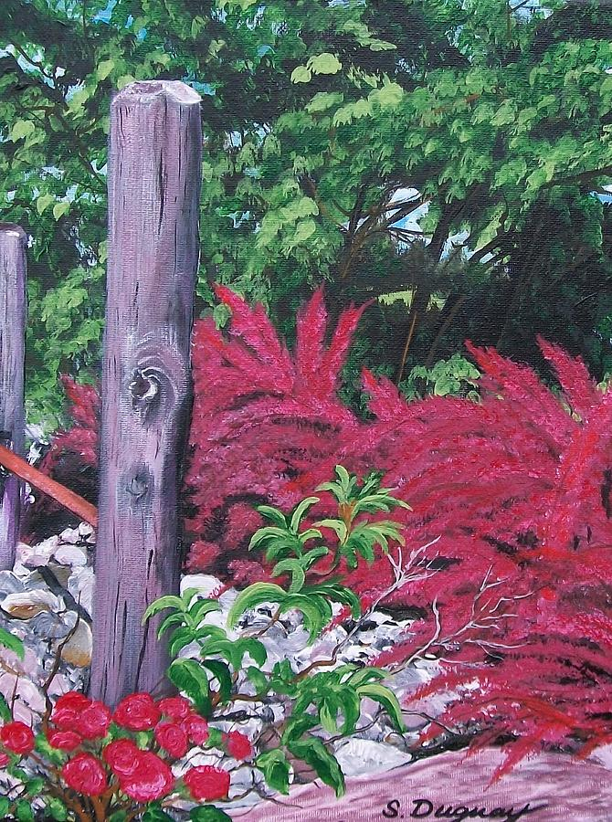 Golf Course Painting - Glen Cairn Entrance by Sharon Duguay