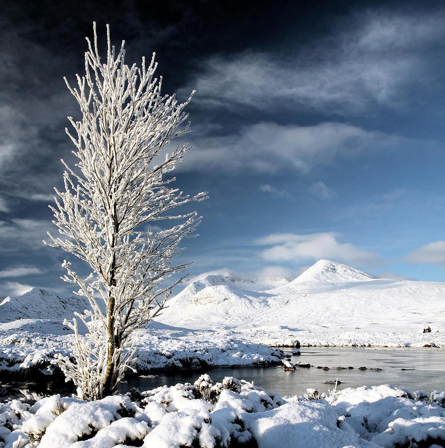 Lochan Photograph - Glencoe Winter Landscape by Grant Glendinning