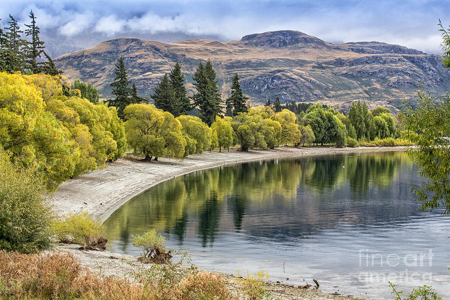 Glendhu Bay Photograph - Glendhu Bay Lake Wanaka With Autumnal Trees by Sheila Smart Fine Art Photography