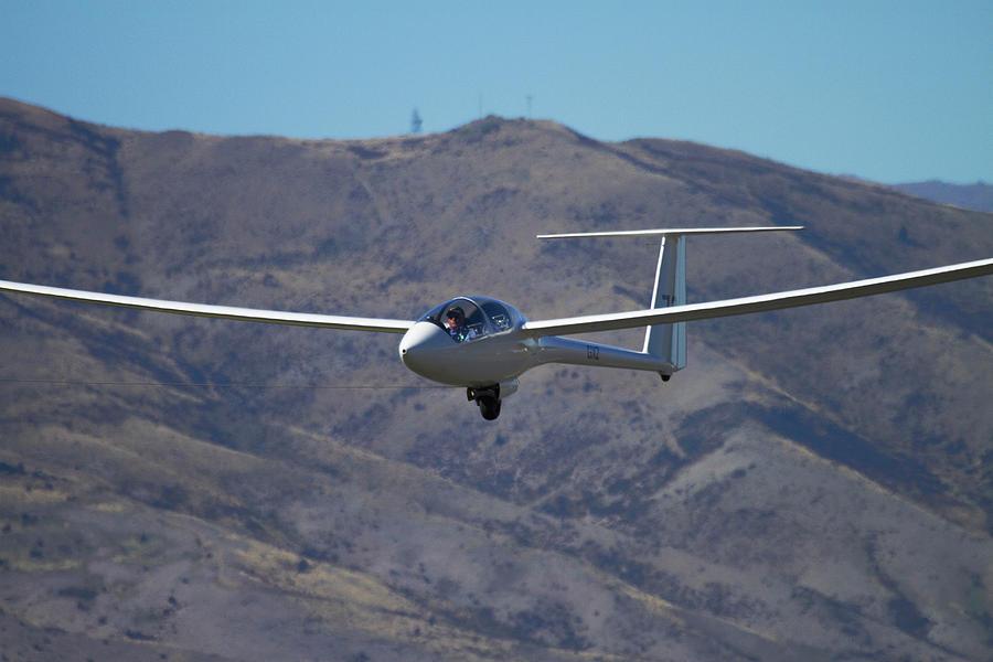 Flying Photograph - Glider, Warbirds Over Wanaka, Wanaka by David Wall