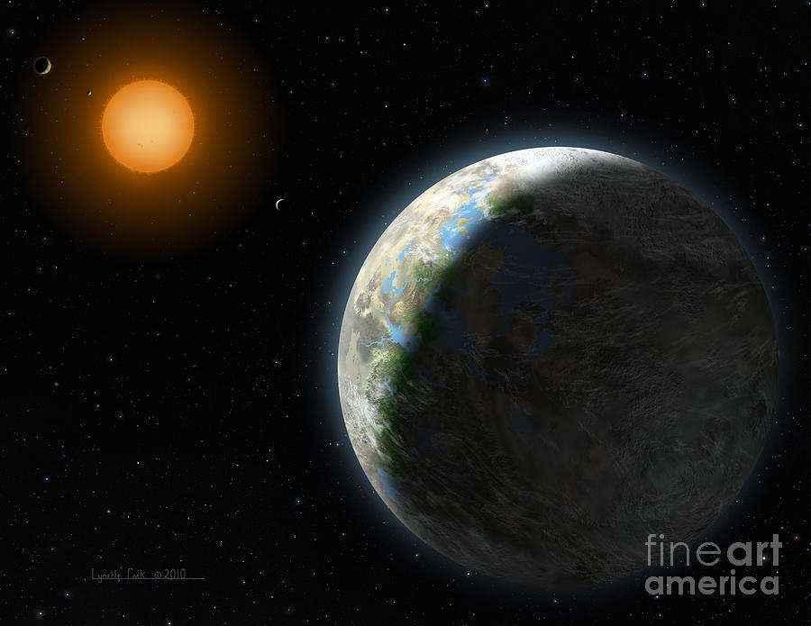 Lynette Cook Painting - Gliese 581 G by Lynette Cook