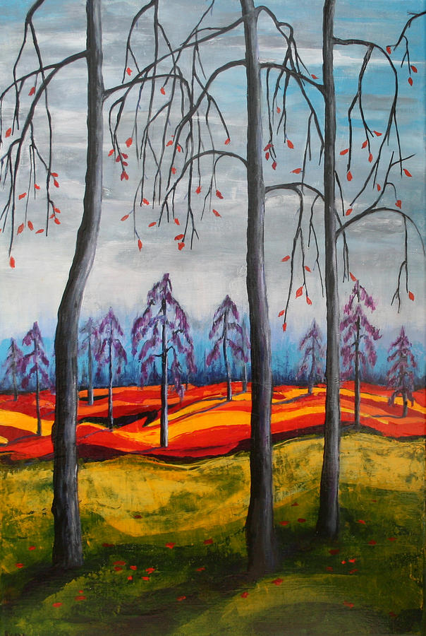 Landscape Painting - Glimpse Of Autumn by Kathy Peltomaa Lewis