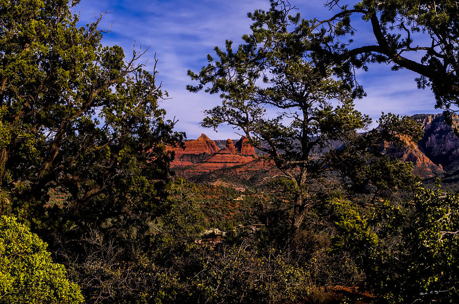 Glimpse Of Red Rocks Photograph