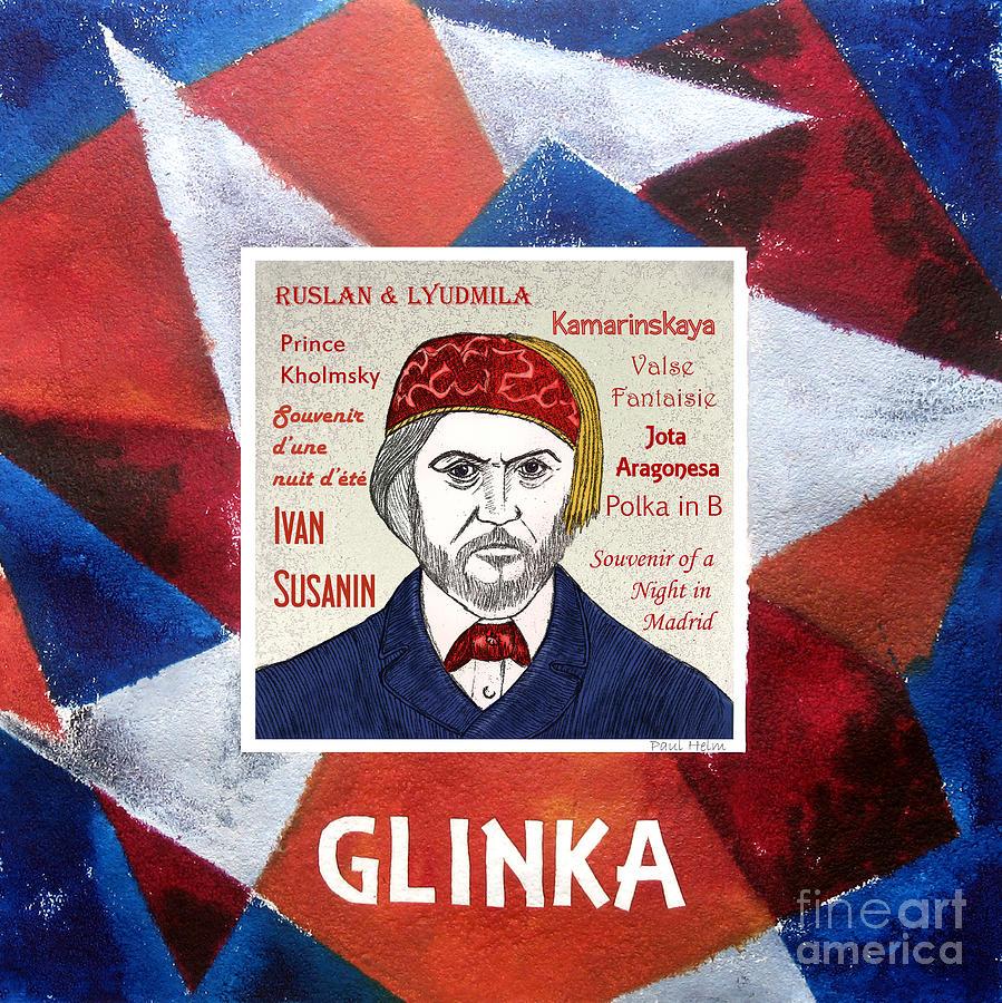 Glinka Drawing - Glinka by Paul Helm