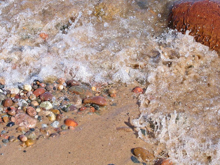 Glistening Stones Awash Photograph