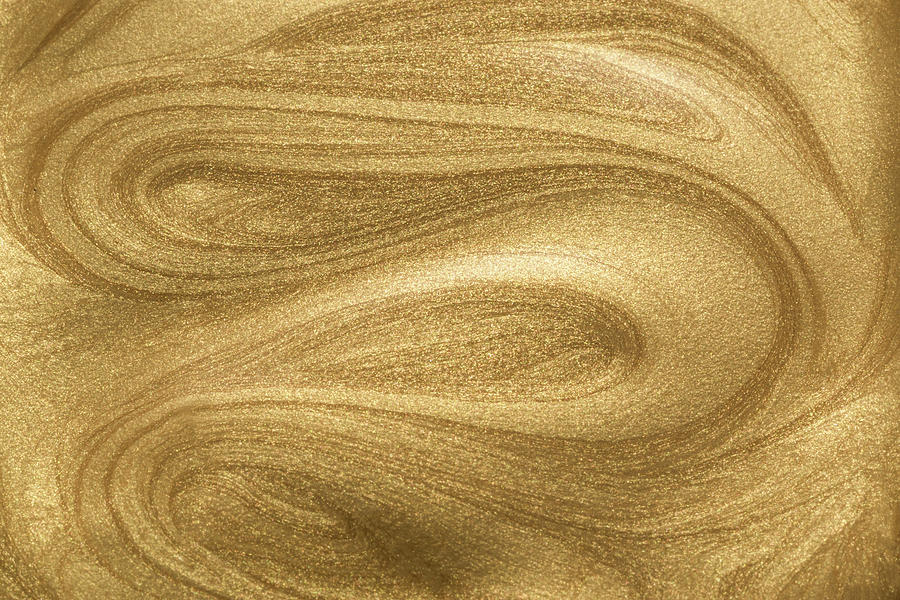 Glittering Gold Paint Photograph by Miragec