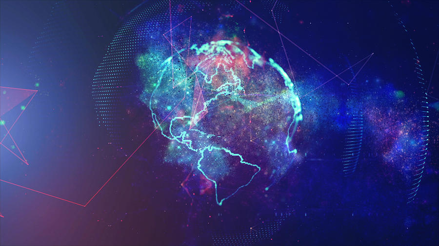 Global Communication Concept. Technological Abstract Background Photograph by Blackdovfx