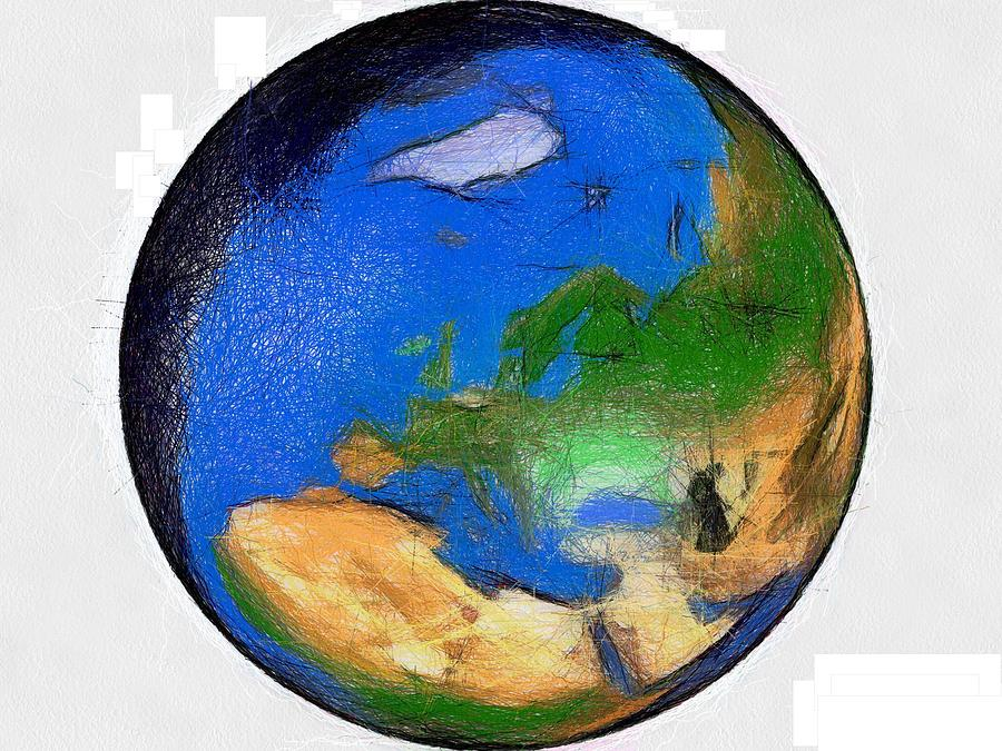 global maps painting globe 3d map world by georgi dimitrov