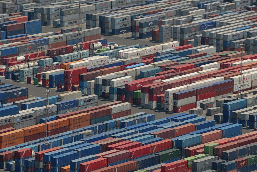 Global Shipping Containers Photograph by Dan Wiklund
