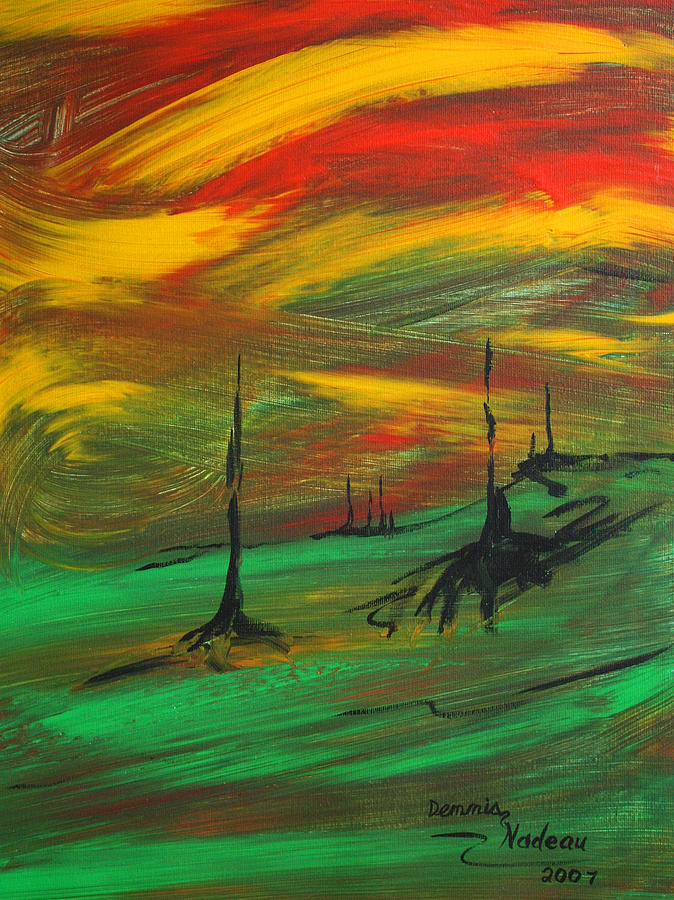 Global Warming Painting - Global Warming by Dennis Nadeau