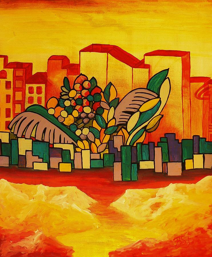 Global Warning Painting - Global Warning by Barbara St Jean