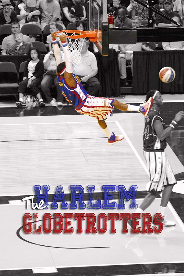 Harlem Digital Art - Globetrotters Super Slam by Robert Saunders Jr