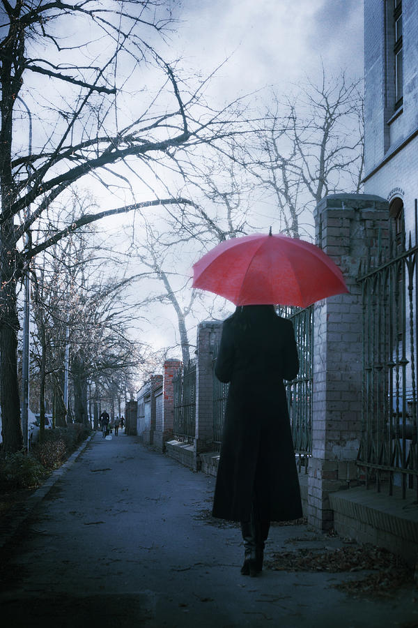 Woman Photograph - Gloomy Street by Cambion Art