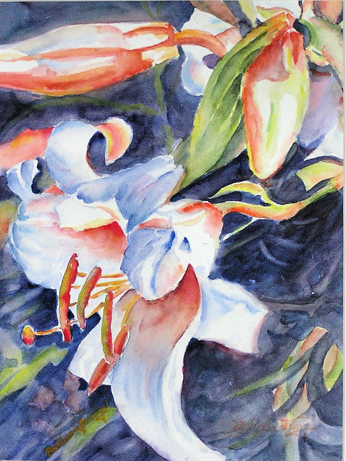Lilies Painting - Gloria by Barbara Jung