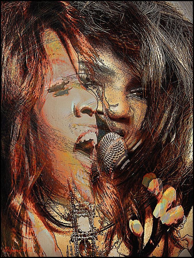 Usa Digital Art - Gloria Gaynor  by Orfeu De SantaTeresa