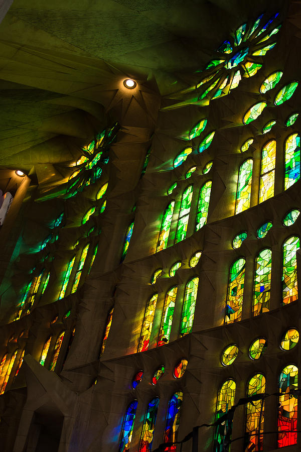 Sagrada Familia Photograph - Glorious Colors And Light by Georgia Mizuleva