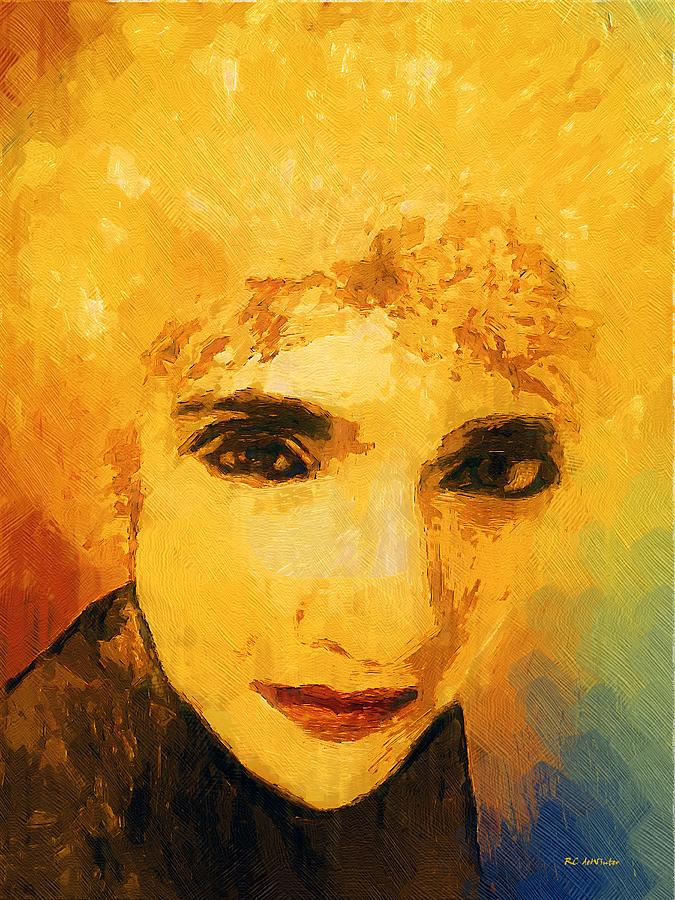 Woman Painting - Glorious Crone by RC deWinter