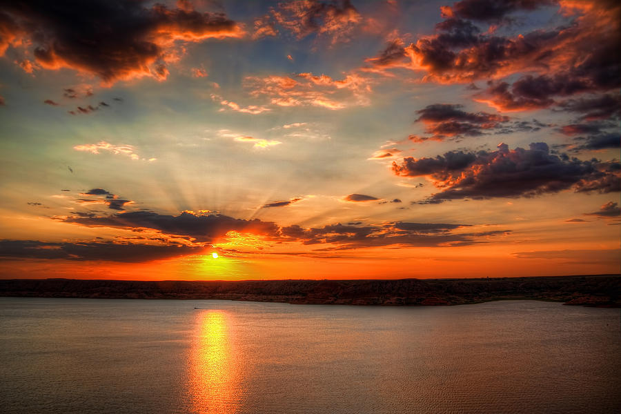 Sunrays Photograph - Glorious Rays by Tom Weisbrook