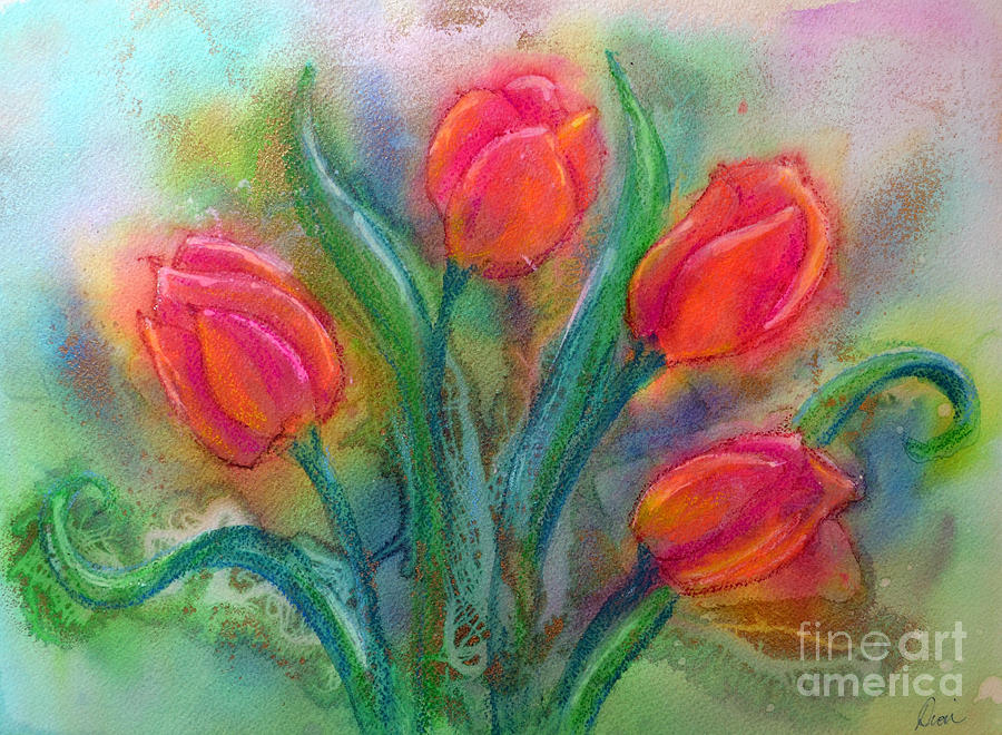 Tulips Painting - Glorious Tulips by Dion Dior