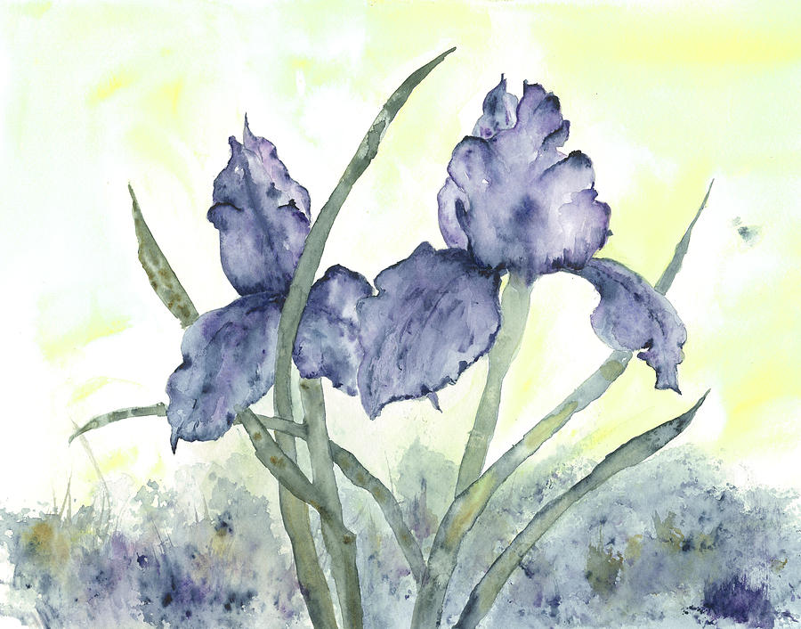 Flower Painting - Gloriously Purple II by Shirley Mercer