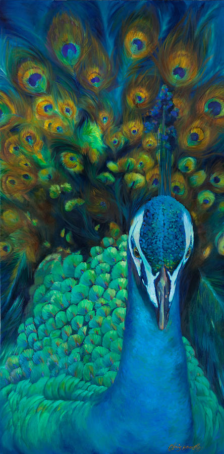Peacock Painting - Glory by Chris Brandley