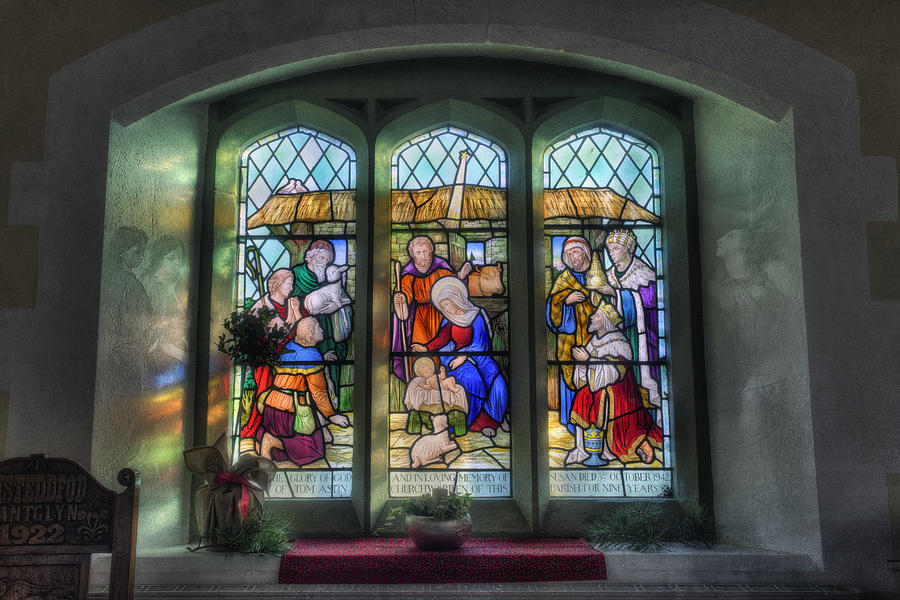Stained Glass Window Photograph - Glory Of God by Ian Mitchell