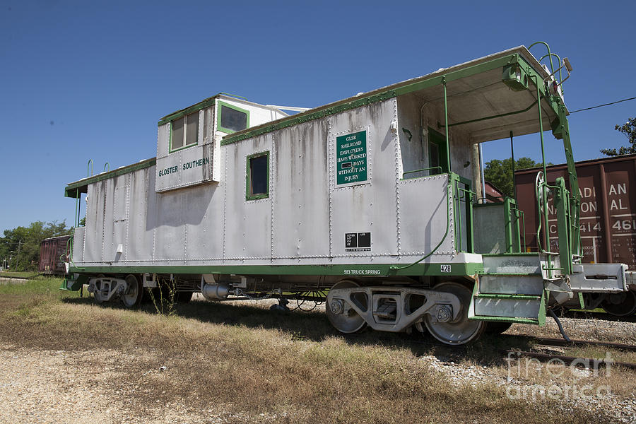 Caboose Photograph - Gloster Caboose by Russell Christie