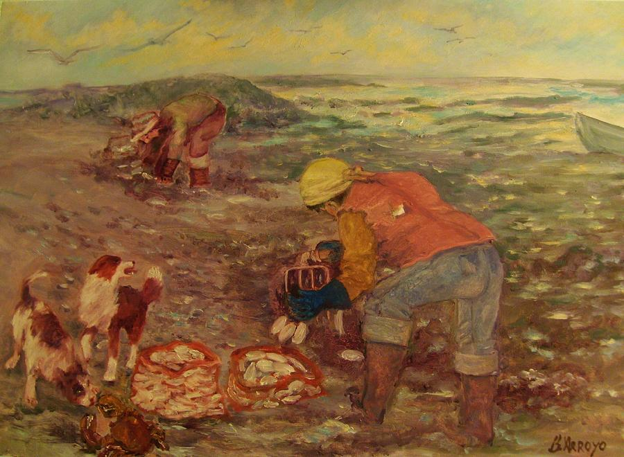 Clam Digger Painting - Gloucester Clam Diggers by Beth Arroyo