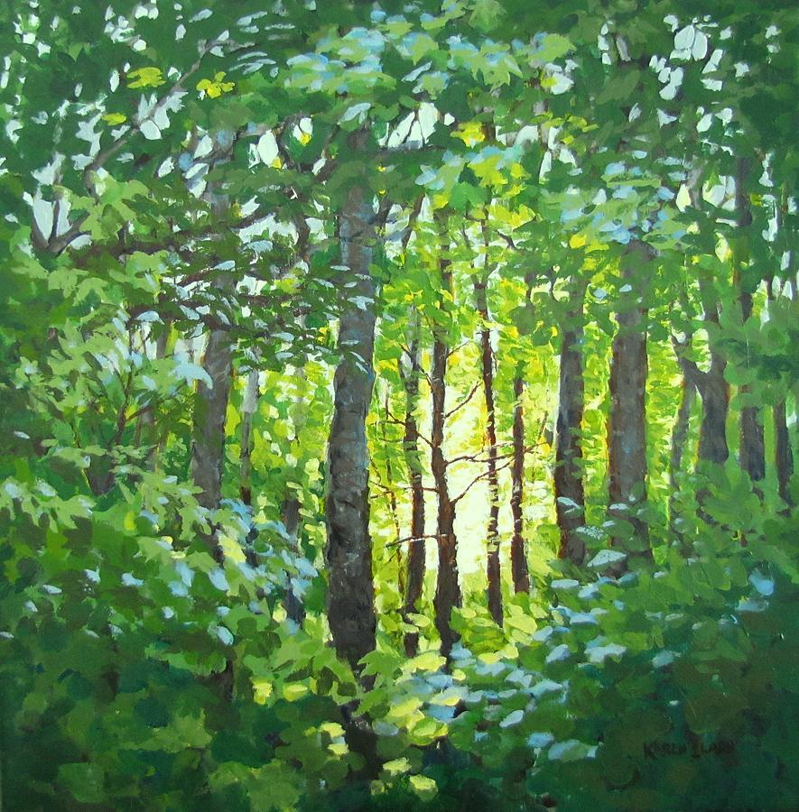 Landscape Painting - Glow by Karen Ilari