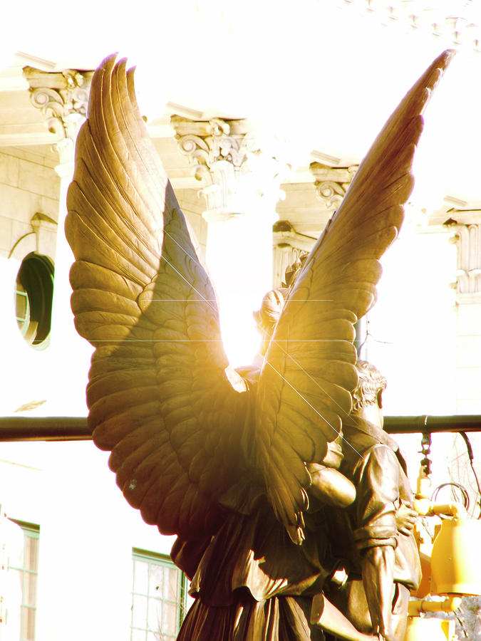 Religion Photograph - Glowing Angel by Misty Stach