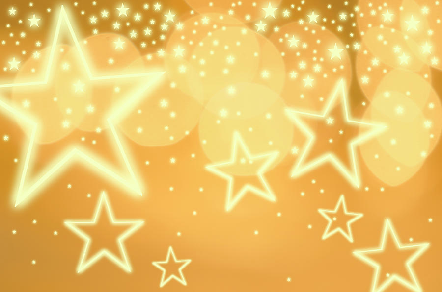 Glowing Background With Stars, Studio Photograph by Tetra Images