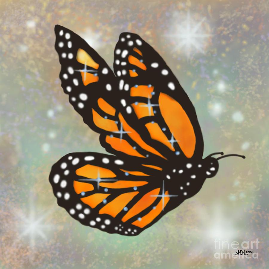 Butterfly Digital Art - Glowing Butterfly by Audra D Lemke