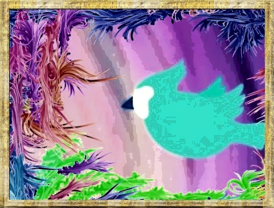 Bird Painting - Glowing by Caroline Gilmore