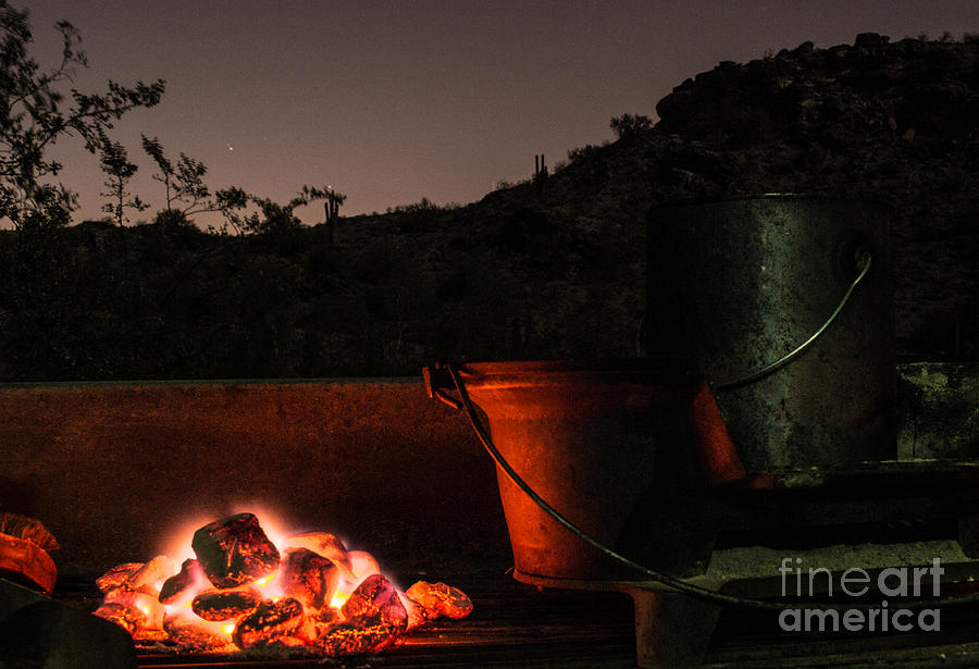Coals Photograph - Glowing Coals by Patty Descalzi
