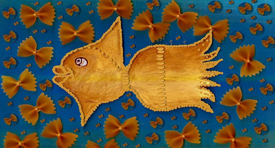 Goldfish Mixed Media - Glowing  Gold Fish by Pepita Selles