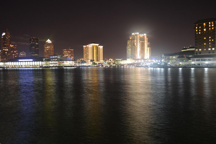 River Digital Art - Glowing Hotel by Victoria Clark