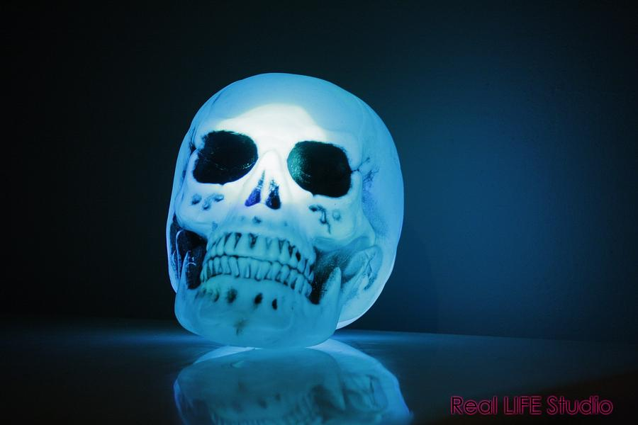 Skulls Photograph - Glowing Skull by Al Fritz