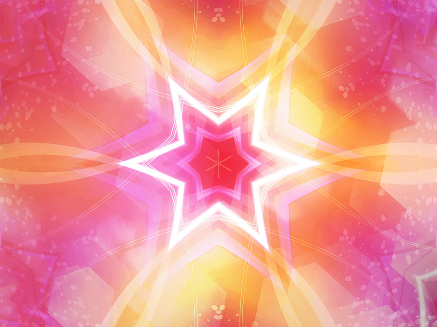 Glowing Star Digital Art - Glowing Star by Ann Croon