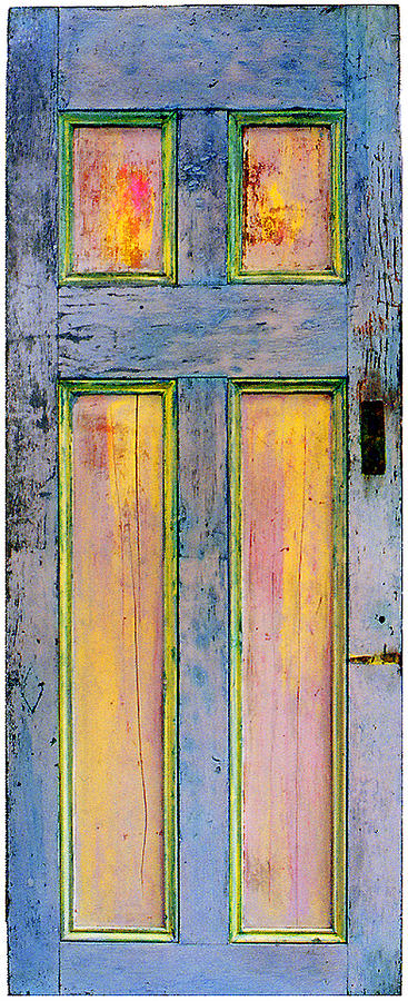 Ink Painting - Glowing Through Door by Asha Carolyn Young