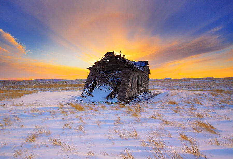 Old Photograph - Glowing Winter by Kadek Susanto