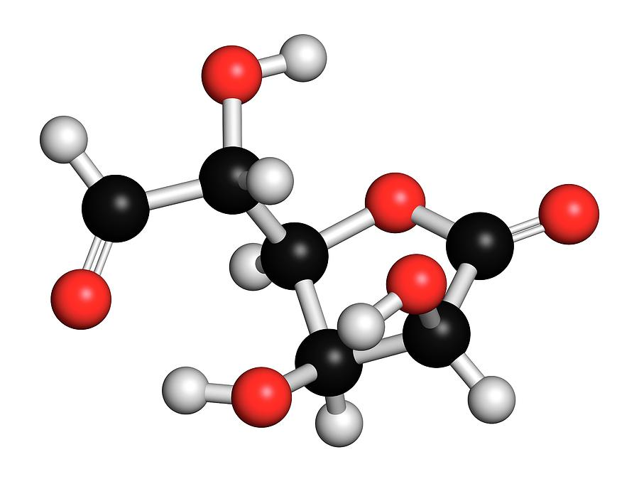 Connective Photograph - Glucuronolactone Molecule by Molekuul