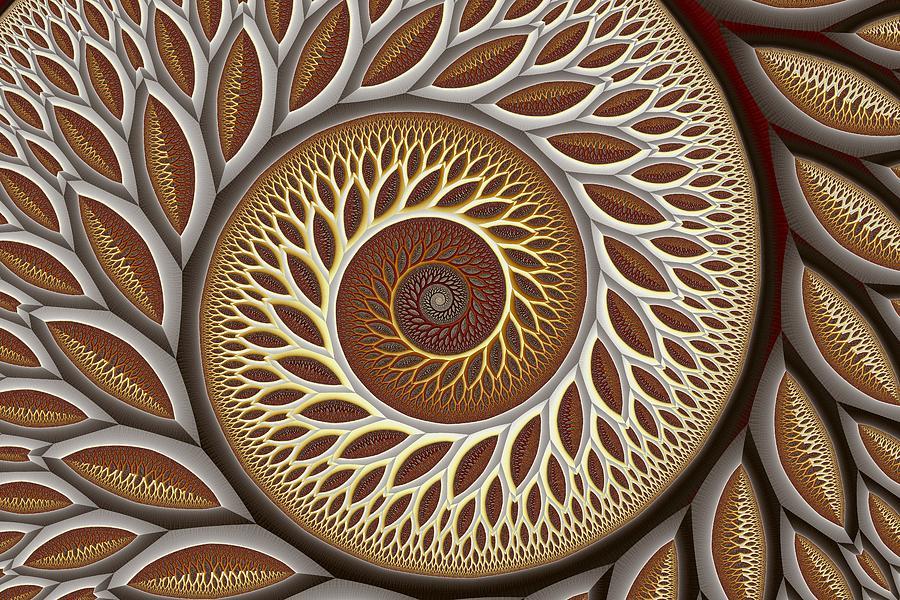 Abstract Digital Art - Glynn Spiral No. 2 by Mark Eggleston