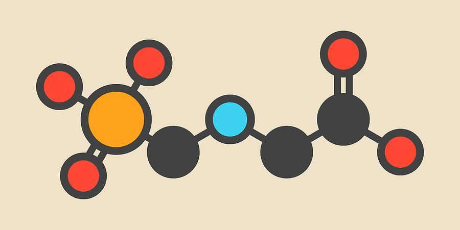 Glyphosate Photograph - Glyphosate Herbicide Molecule by Molekuul
