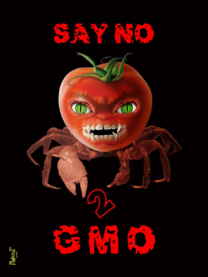 Modified Digital Art - GMO by Anthony Mwangi