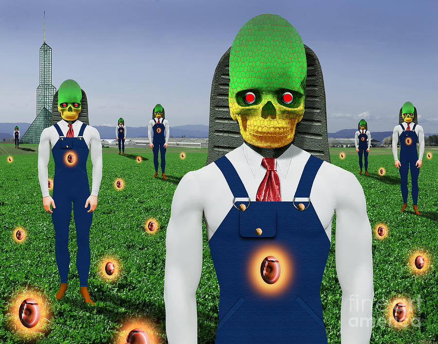 Surreal Art Digital Art - Gmo Demon Seeds by Keith Dillon