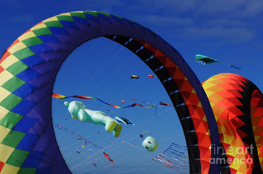 Kite Photograph - Go Fly A Kite 2 by Bob Christopher