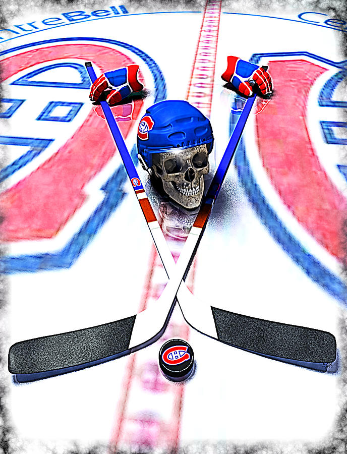 Hockey Digital Art - Go Habs Go by Frederico Borges