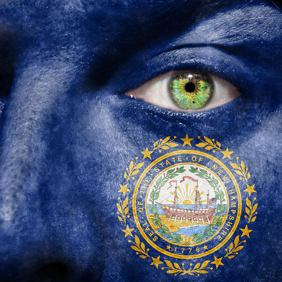 Blue Photograph - Go New Hampshire by Semmick Photo