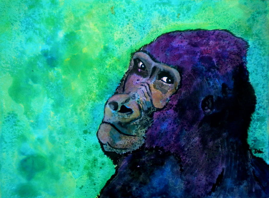 Gorilla Painting - Go Sit In Time Out by Debi Starr