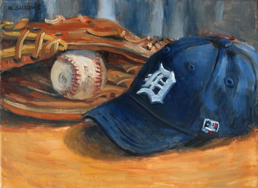 Detroit Painting - Go Tigers by Nora Sallows